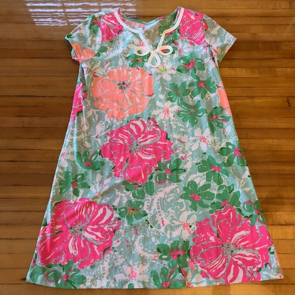c4fd574a6 Lilly Pulitzer Other - Lilly Pulitzer Girls Mini Brewster Dress Poolside